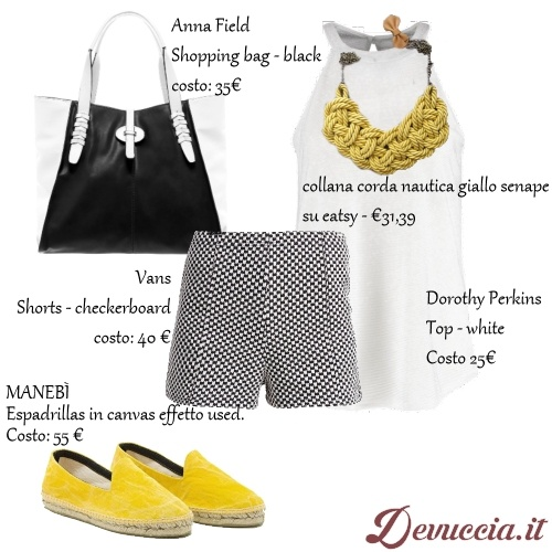 Fashion Style con short in Stampa Vichy