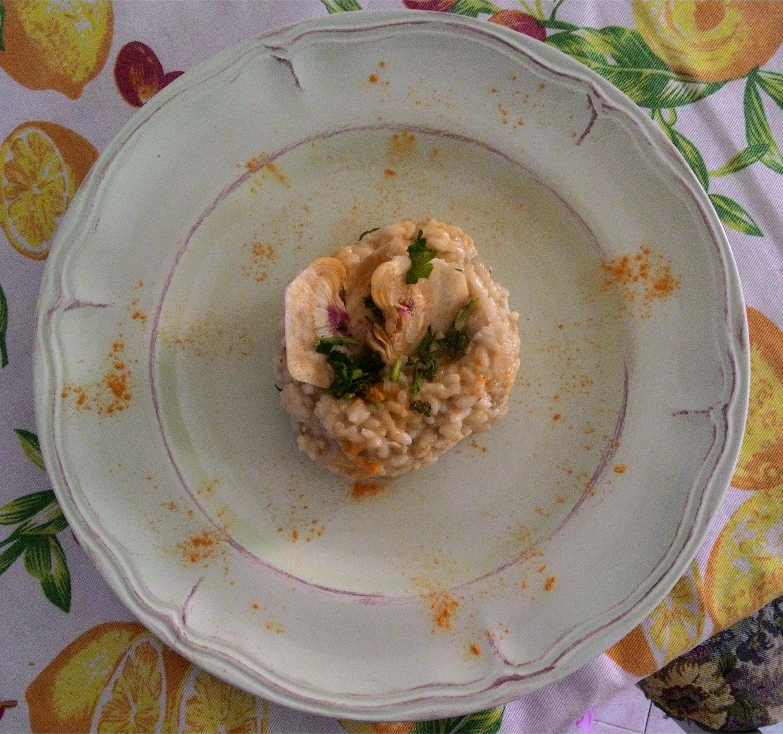 Risotto in crema di carciofi e gorgonzola