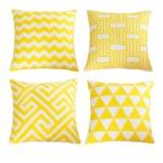 cuscini geometrici gialli
